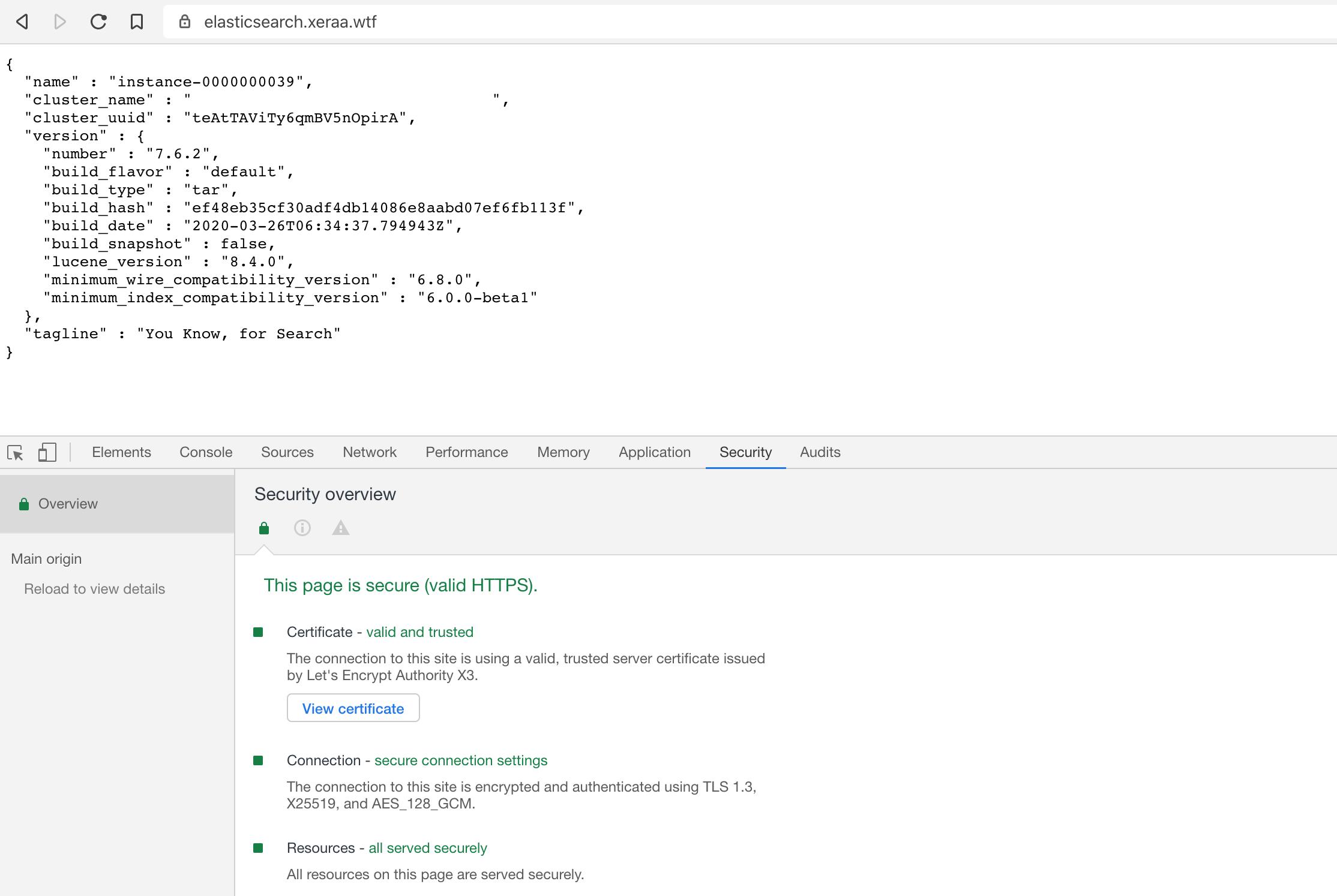 Proxied Elasticsearch