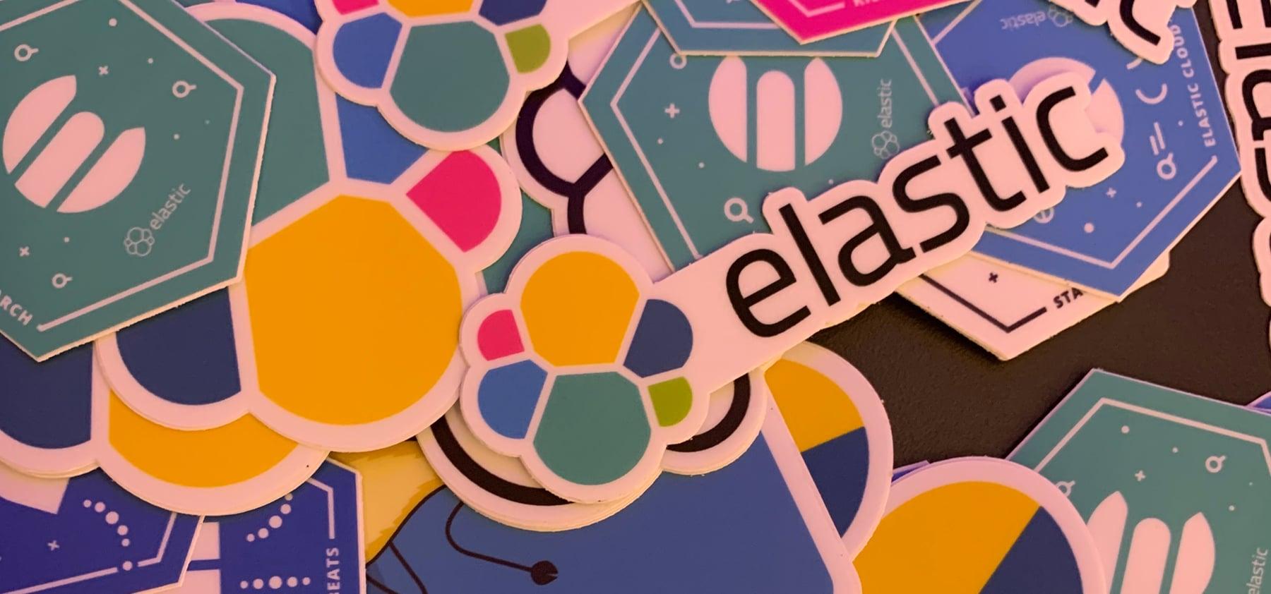 Elastic stickers